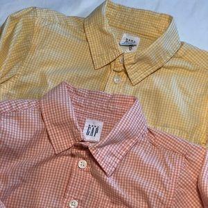 Pair of boys GAP long sleeves Cotton shirts Sz 4